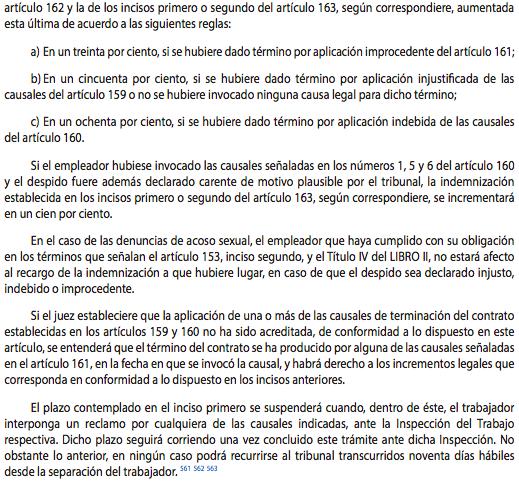 Despido injustificado en Chile