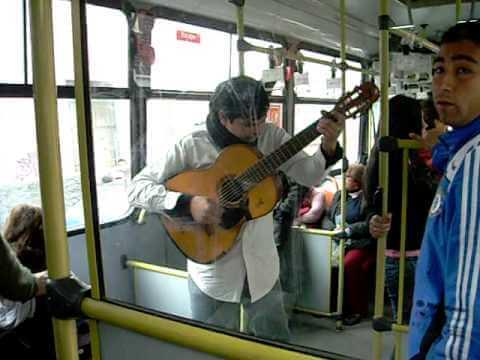 músico en transantiago